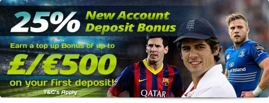 25% Deposit Top Up Bonus