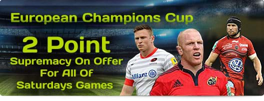 European Champions Cup - Two Point Supremacy On Offer For All Of Saturdays Games
