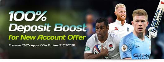 100% Deposit Boost for New Account Offer