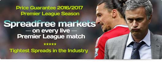 SpreadFree Markets on every live Premier League