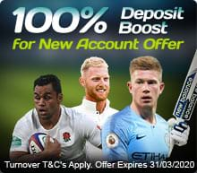 100% Deposit Boost for New Accounts